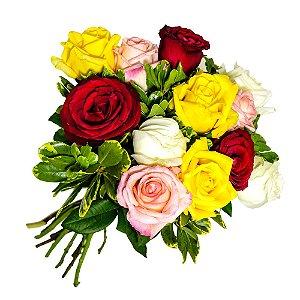 Buquê Rosas Coloridas
