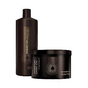 Kit Sebastian Dark Oil - Shampoo e Máscara Tamanho Salão