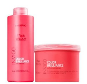 Kit Wella Briliance Shampoo (1 Litro) Máscara (500ml)
