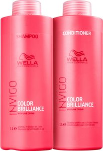 Kit Wella Invigo Brilliance Shampoo e Condicionador de 1 Litro