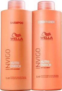 Kit Wella Professionals Invigo Color Enrich Shampoo 1 Litro e Condicionador de 1 Litro.
