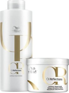 Kit Wella Oil Reflections Shampoo (1 Litro) Máscara (500ml)