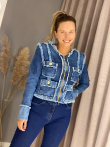 Jaqueta Jeans Jaqueline