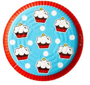 Prato descartável modelo Cupcakes