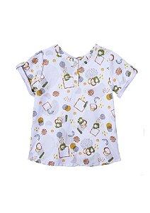 Camiseta unissex estampada em algodão orgânico