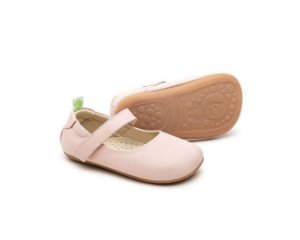 Sapatilha Couro Nude - Dolly Cotton Candy - Tip Toey Joey