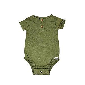 Body manga curta verde