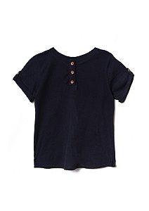 Camiseta unissex preta em algodão orgânico