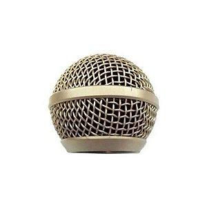 Globo para Microfone com Fio LeSon SM-58 Champagne