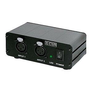 Phantom Power para 2 Microfones CSR PH-4 com Fonte