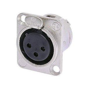 Plug Canon Femea Painel Neutrik NC3FD-L-1