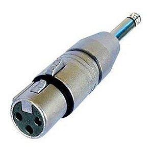 Plug Adaptador CSR P10 Mono/Canon Femea