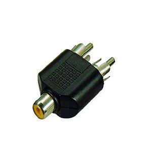 Plug Adaptador CSR 1RCA Femea/2RCA Macho