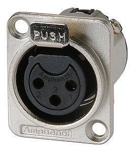 Plug Canon Femea Painel Amphenol AC3FDZ/N