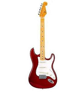 Guitarra SX Stratocaster SST57 Vermelha Com Capa