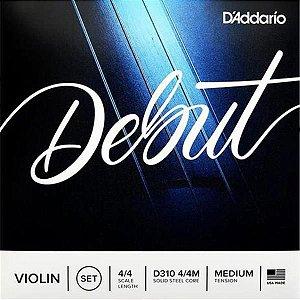 Encordoamento D'addario Para Violino 4/4 D310 4/4M Debut