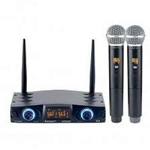 Microfone Karsect Sem Fio Mão Duplo KRD-200DR
