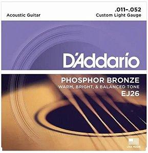 Encordoamento D'addario para Violão Aço Phosphor Bronze 0.11 EJ26