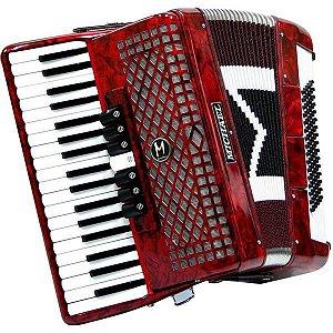 Acordeon Michael 80 Baixos Vermelho ACM-8007