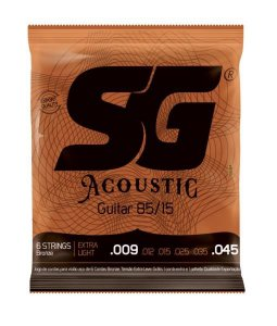 Encordoamento SG para Violão Aço 0.09 Bronze 85/15 6684
