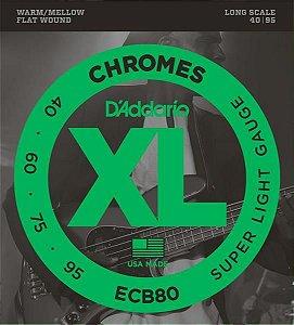 Encordoamento D'addario para Contrabaixo 0.40 4c. ECB-80 Chromes