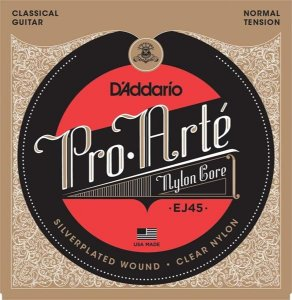Encordoamento D'addario para Violão Nylon EJ-45 Medium