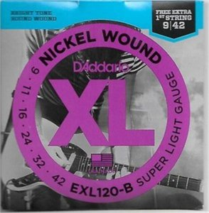 Encordoamento D'addario para Guitarra 0.09 EXL120B
