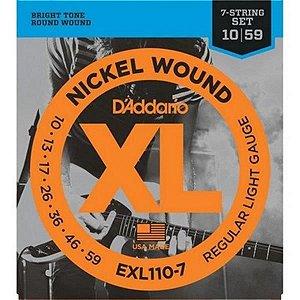 Encordoamento D'addario para Guitarra 0.10 EXL110-7 7 Cordas