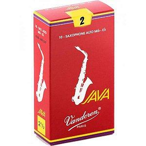 Palheta Vandoren Sax Alto Java Red 2 7810
