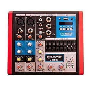 Mesa De Som Compacta Soundvoice MC4 EUX