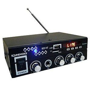 Amplificador Receiver Compacto Soundvoice RC01-BT