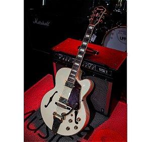 Guitarra Ibanez Semi-Acustica AF75TDG-IV Com Case (Usada)