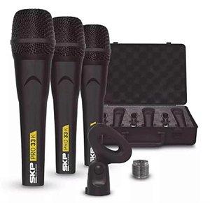 Kit Com 3 Microfones SKP Pro-33K