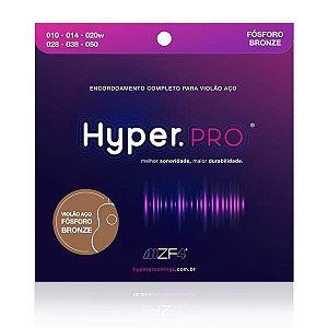Encordoamento Hyper Pro Violão Aço F.Bronze 0.10 HYPKIT010F