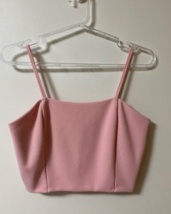 Cropped Rosa Crepe