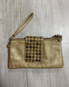 Bolsa/Carteira Dourada Spikes
