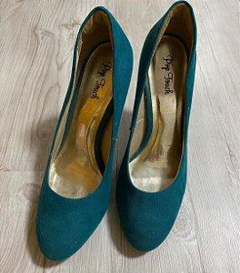 Sapato Camurça Verde
