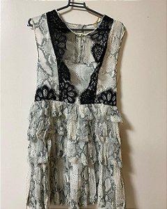 Vestido de Seda e Renda