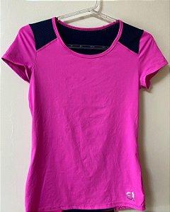 Blusa Dry Pink/Marinho