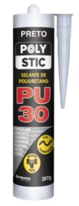Selante PU 30 Preto Polystic (387 g)