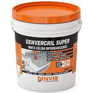 Manta liquida Impermeabilizante - Denvercril Super cinza Denver(12 kg)