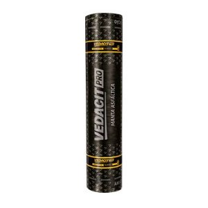 Manta asfaltica Tipo II , 4mm Poliester Vedacit (1,00 m x 10 m)
