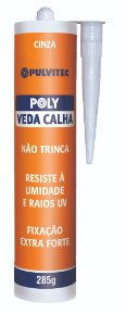 Selante para calha VEDACALHA Cinza - Polystic (285g)