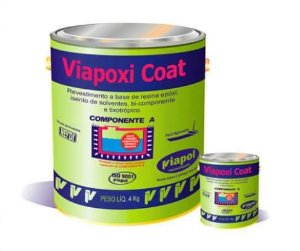 Revestimento Impermeabilizante Epoxi Viapoxi Coat - 20 kg Viapol