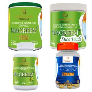 MAGREEM® COMBO 1 - FIBRAS + SUCO VERDE + C.K + THERMO