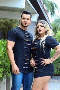 Camiseta Long Rasgadinha