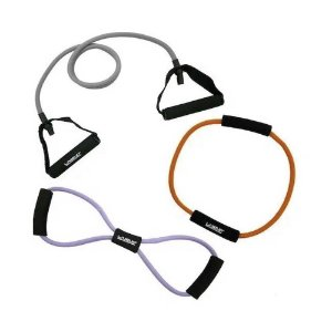 Kit com 3 elásticos extensor para treino funcional - Live Up