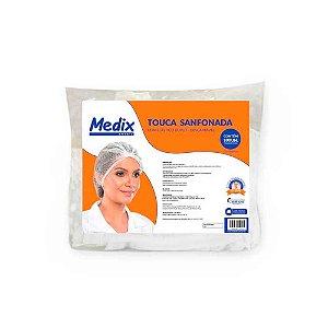 Touca descartável branca Gr Leve com 100 unidades - Medix