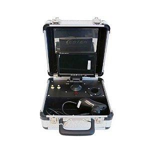 Vídeo Microscópio 250X c/ Monitor LCD e maleta de aluminio portátil