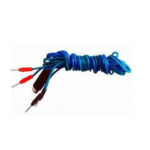 Cabo p/ Corrente Bifásica Azul e Verde p/ Stimulus-R/Stimulus Physio - HTM